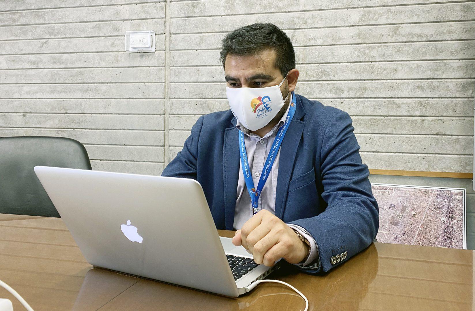 Marcelo Pérez, encargado de Seguridad Comunal.